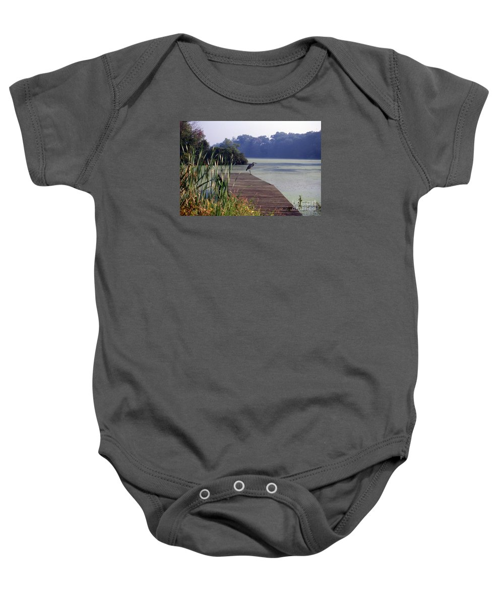Scenic Tours Baby Onesie featuring the photograph Morning Recon by Skip Willits