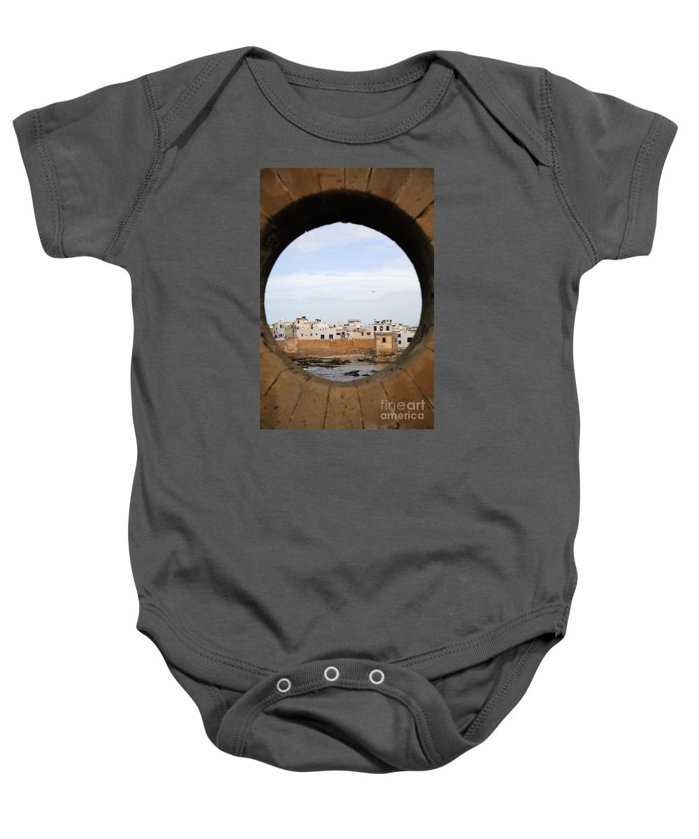 Africa Baby Onesie featuring the photograph Moroccan View by Deborah Benbrook