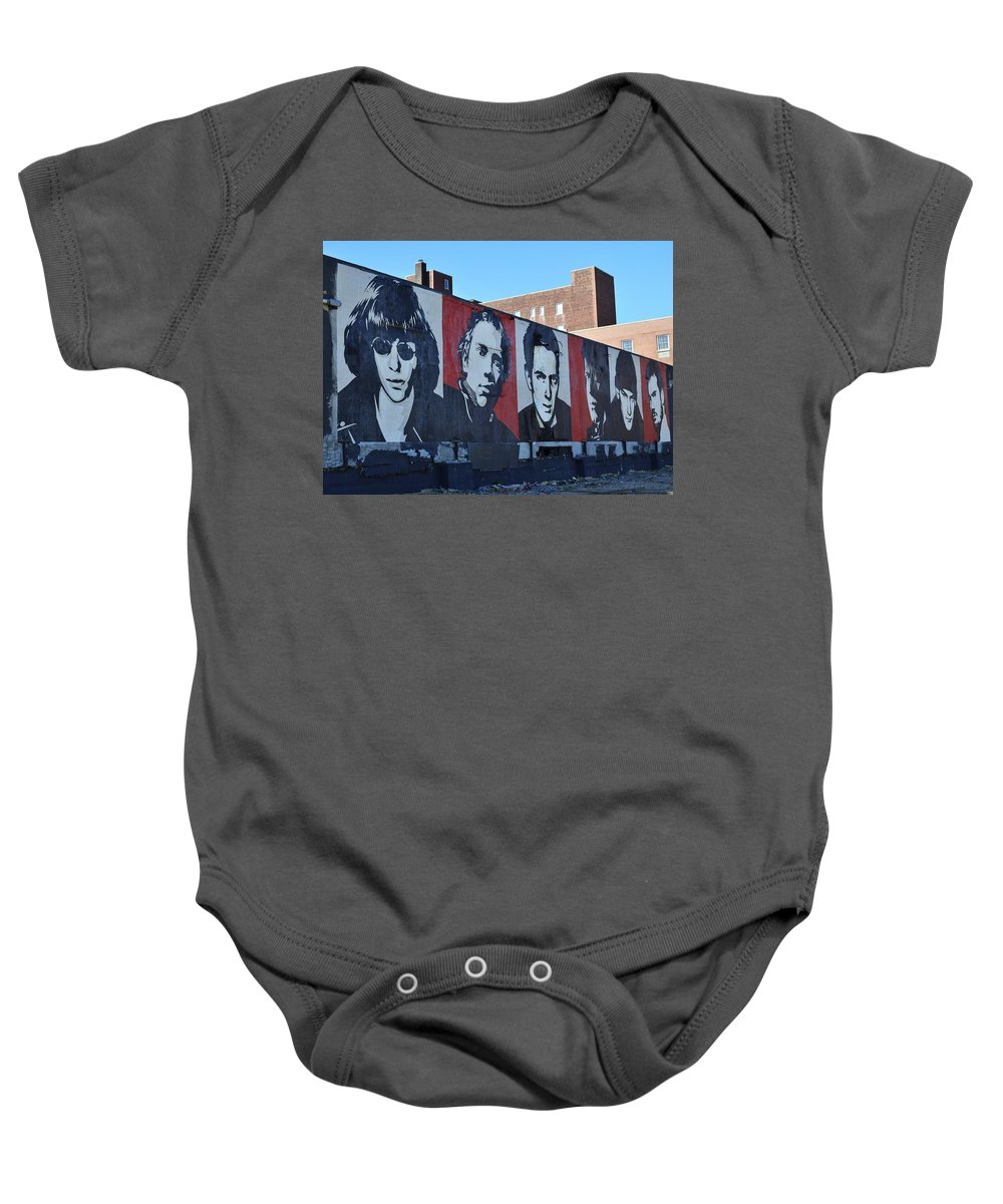 Shepard Fairey Baby Onesie featuring the photograph Mount Rush Core  by Allen Beatty