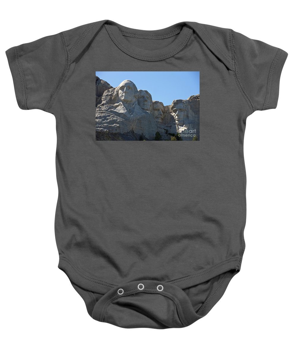 Mount Rushmore Baby Onesie featuring the photograph Mount Rushmore National Monument by Jason O Watson