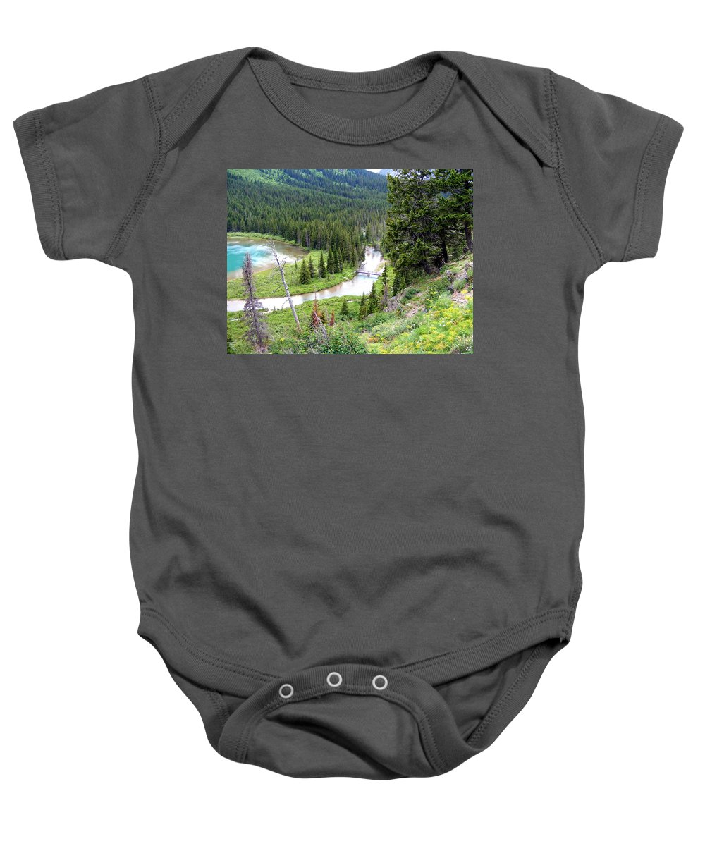 Mountains Baby Onesie featuring the photograph Mountain Bridge by Mark Hudon
