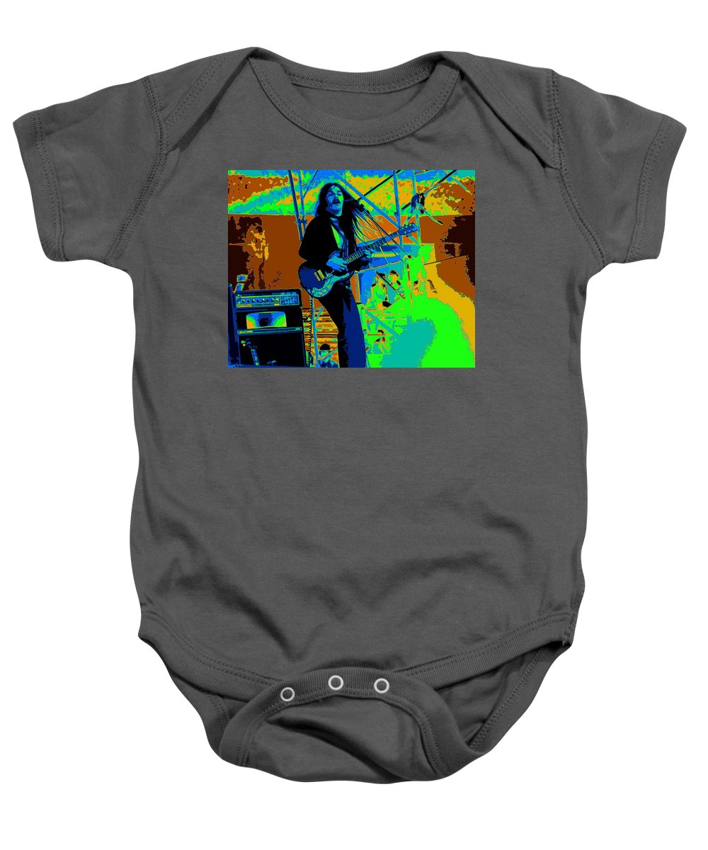 Frank Marino Baby Onesie featuring the photograph Mrdog #4 In Cosmicolors Crop 2 by Ben Upham