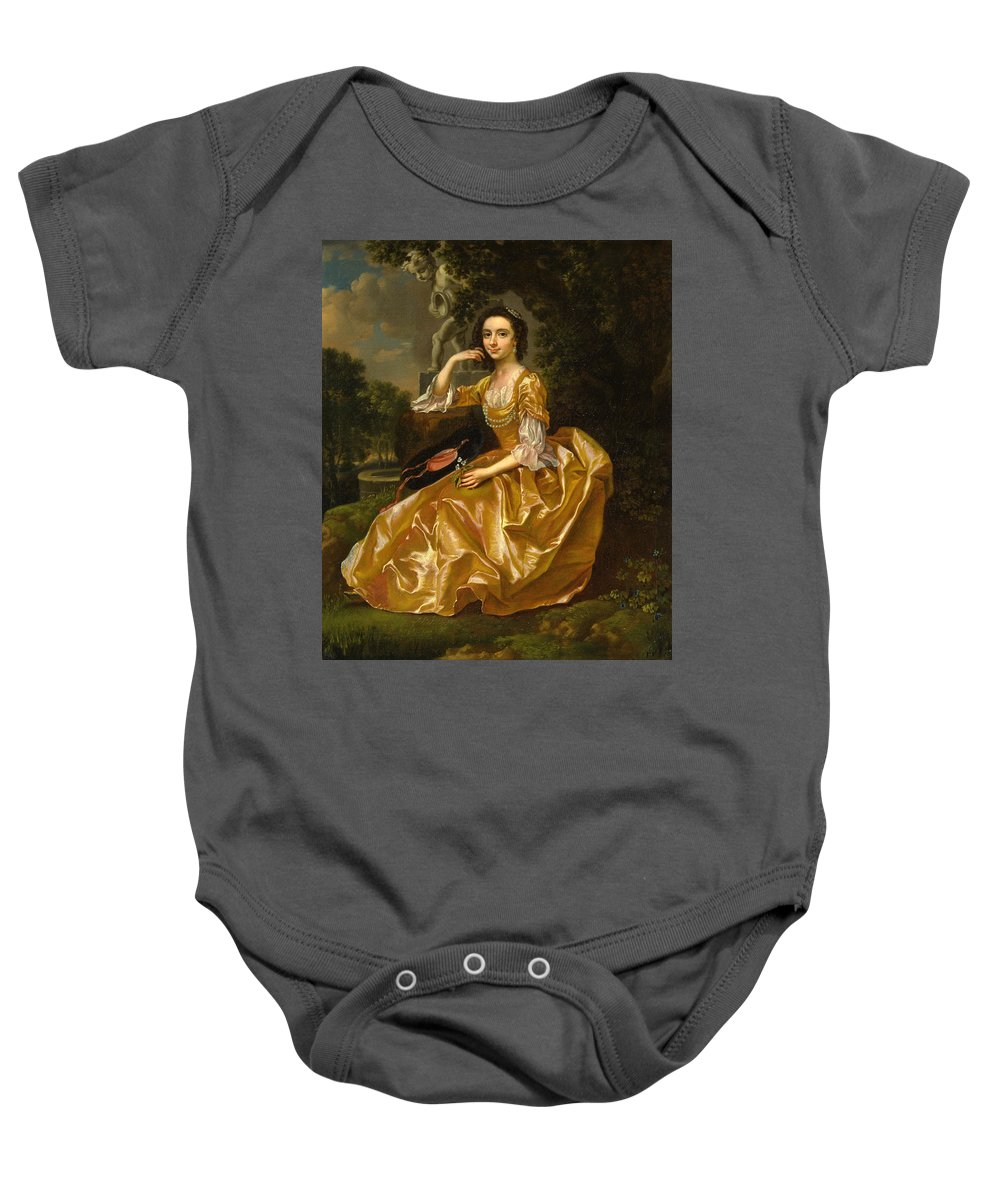 Francis Hayman Baby Onesie featuring the painting Mrs. Mary Chauncey by Francis Hayman