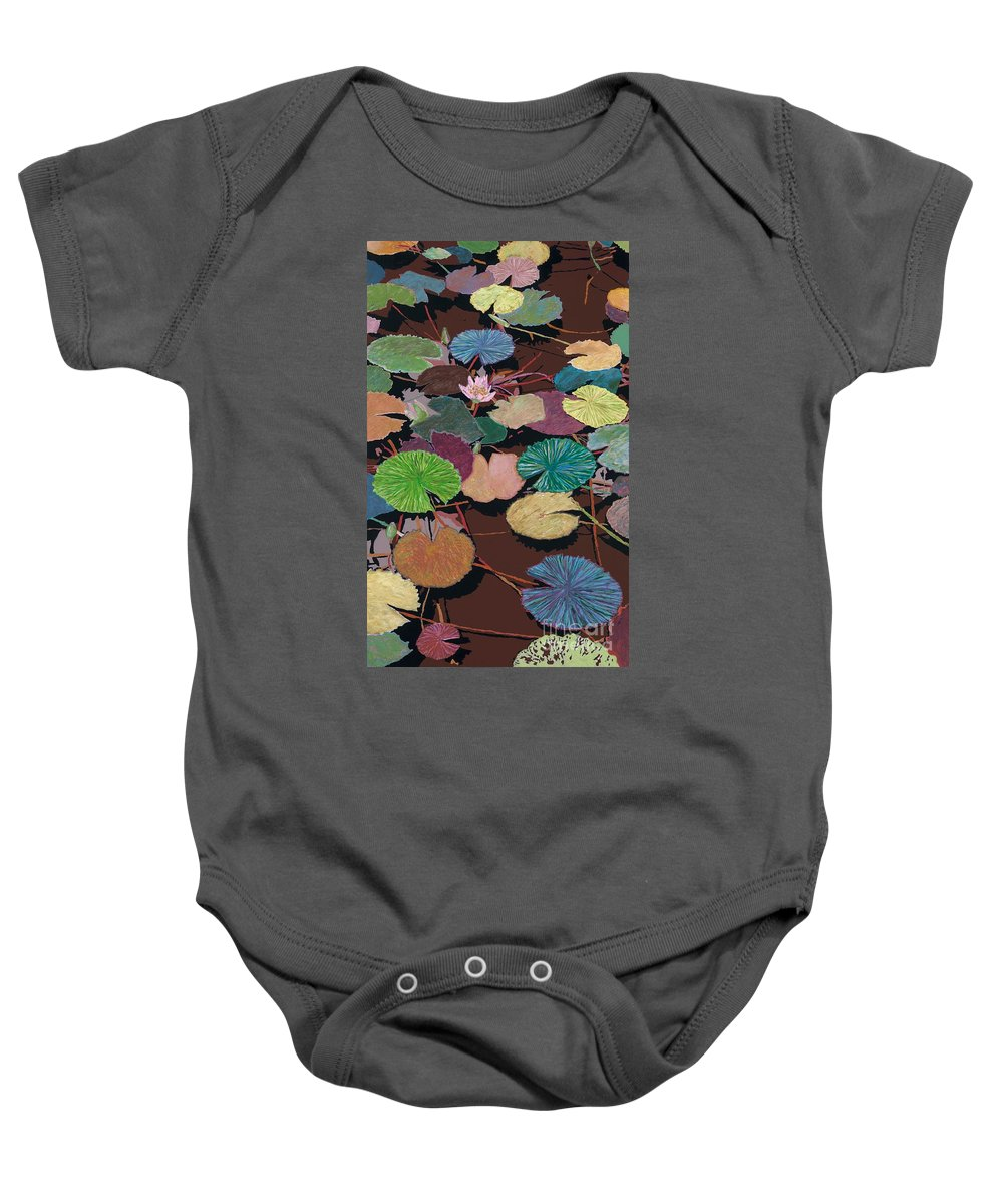 Landscape Baby Onesie featuring the painting Muddy Waters by Allan P Friedlander