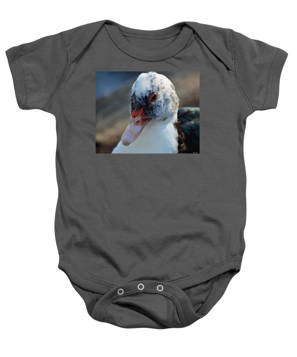 Muscovy Portrait 2013 Baby Onesie featuring the photograph Muscovy Portrait 2013 by Maria Urso