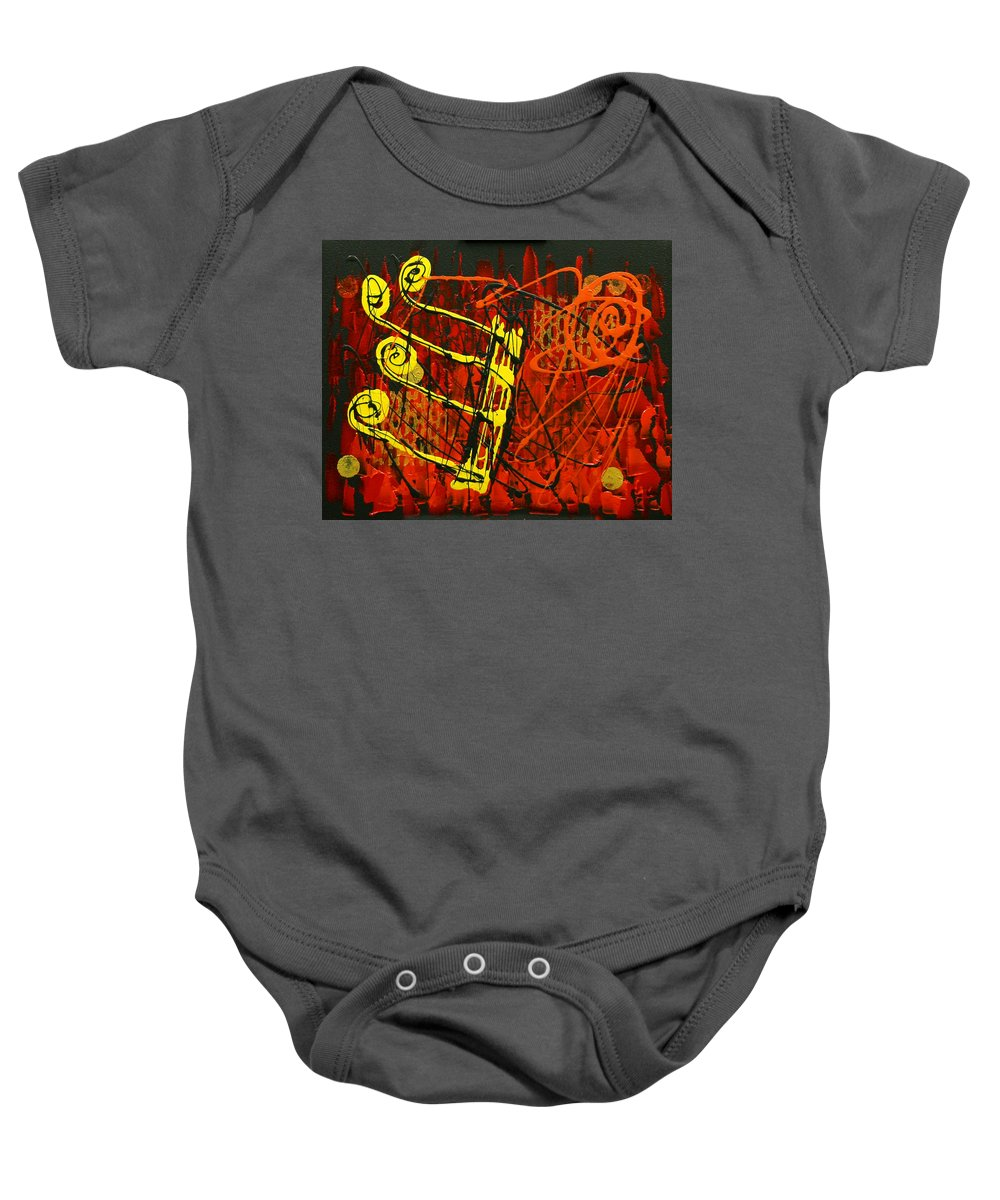 Paintings Paintings Baby Onesie featuring the painting Music 1 by Leon Zernitsky