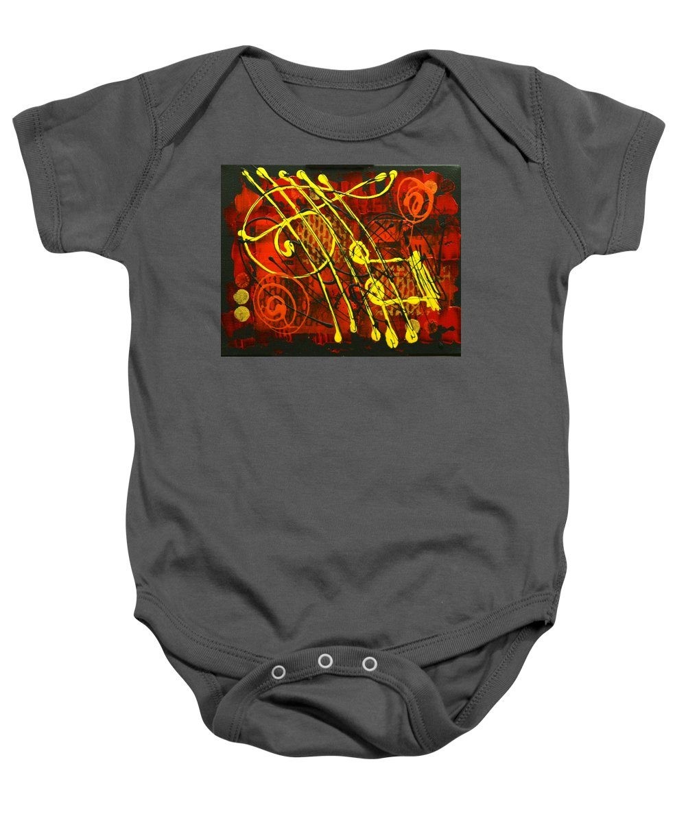 Paintings Paintings Baby Onesie featuring the painting Music 3 by Leon Zernitsky