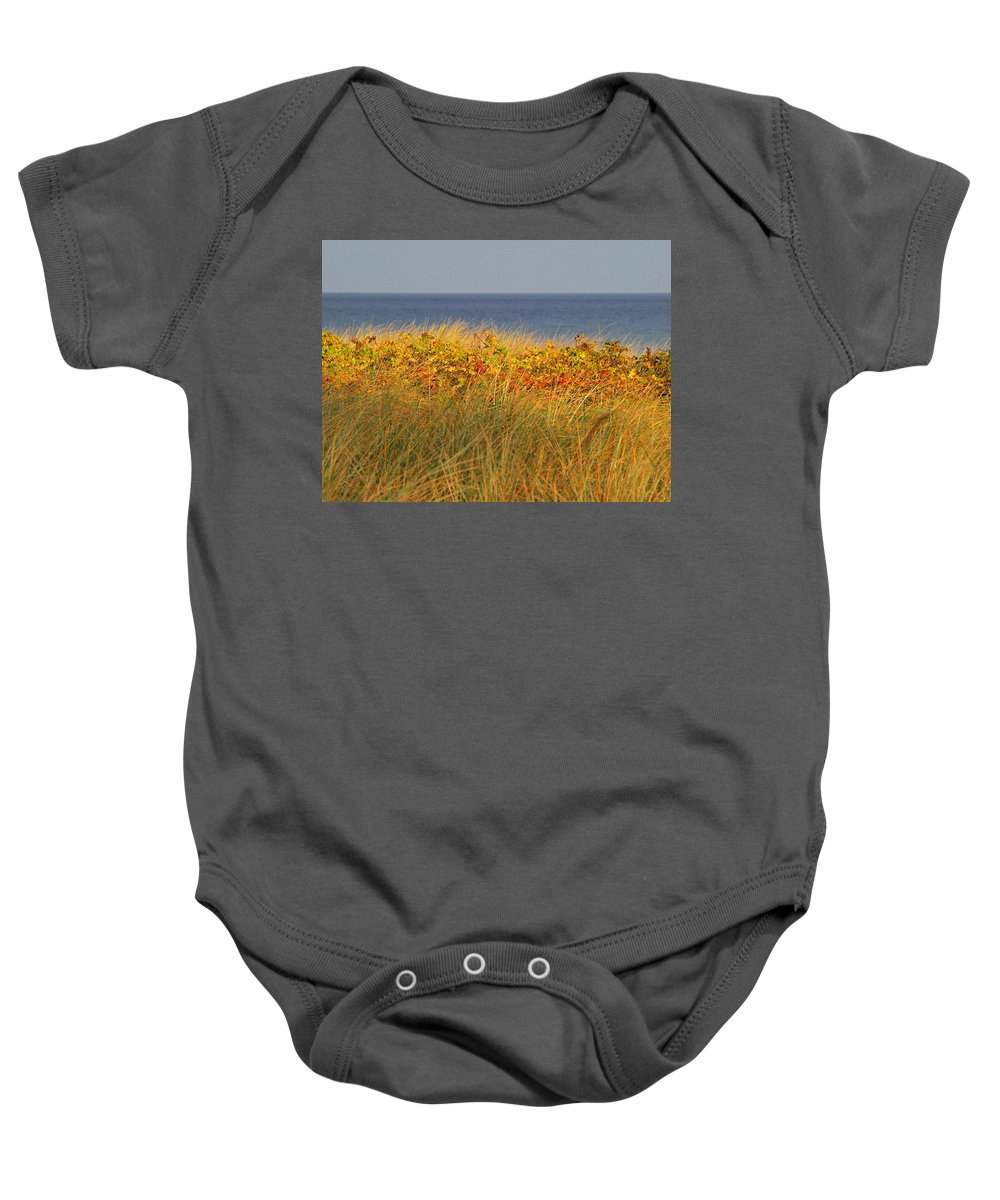 Love Baby Onesie featuring the photograph My Love Awaits Me By The Sea 2 by Movie Poster Prints