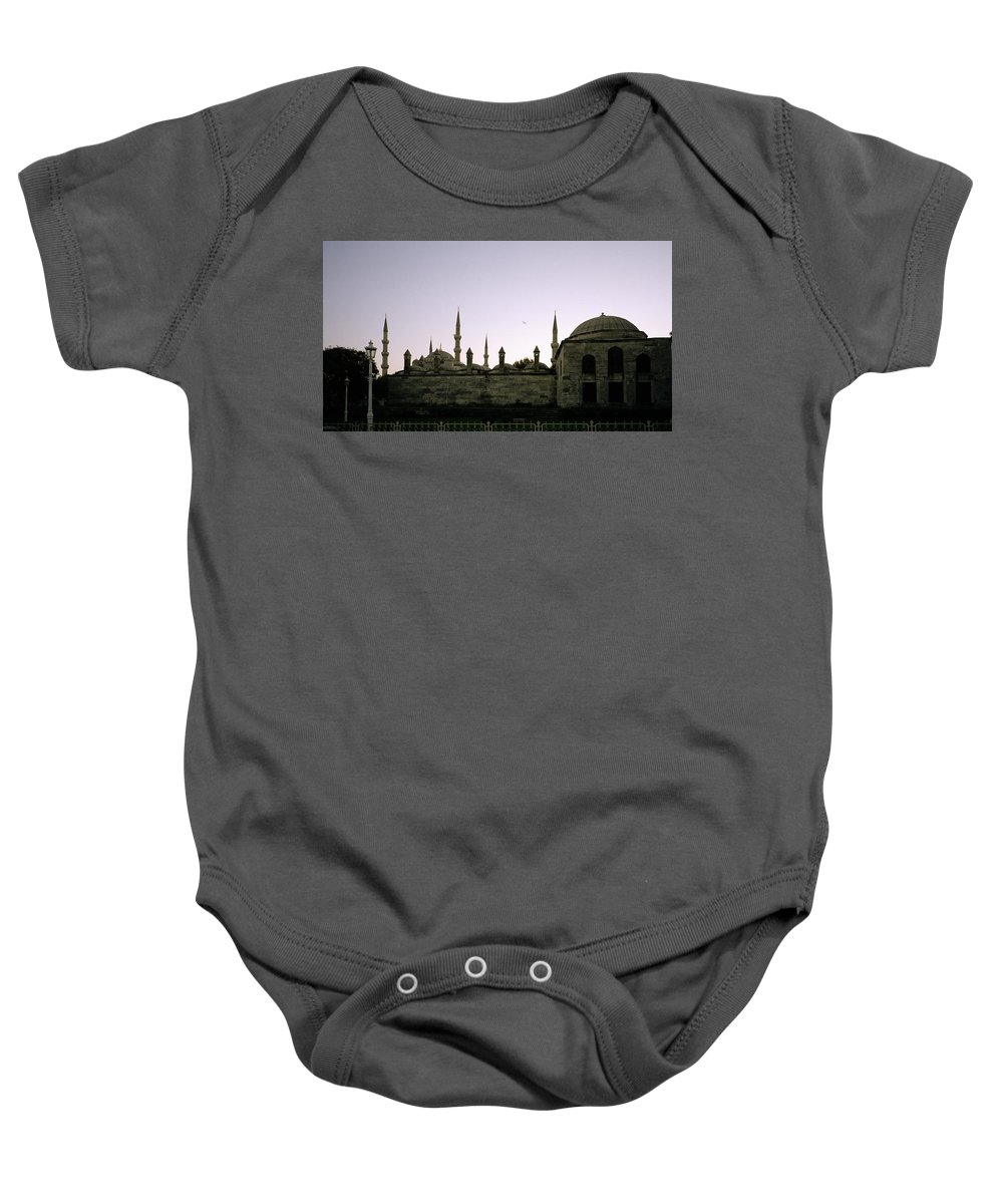 Istanbul Baby Onesie featuring the photograph Mysterious Istanbul by Shaun Higson
