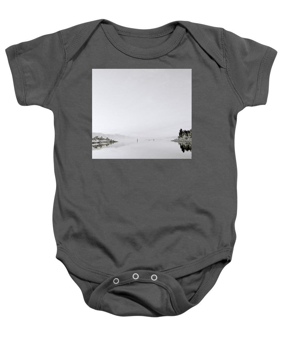 Inspiration Baby Onesie featuring the photograph Still Waters by Shaun Higson