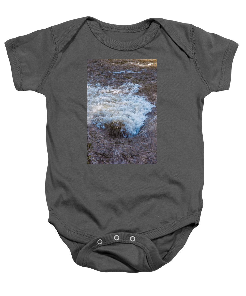 Georgia Okeefe Baby Onesie featuring the painting Mysterious Wave by Omaste Witkowski