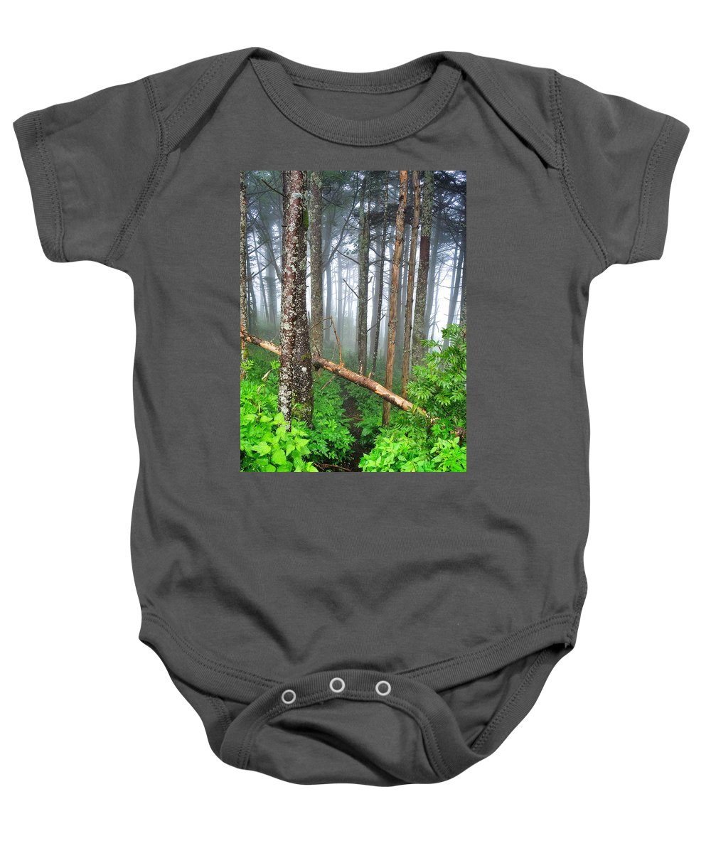 Mystic Baby Onesie featuring the photograph Mystic by Skip Hunt