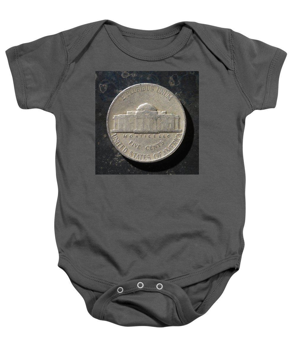 Americana Baby Onesie featuring the photograph N 1947 A T by Robert Mollett