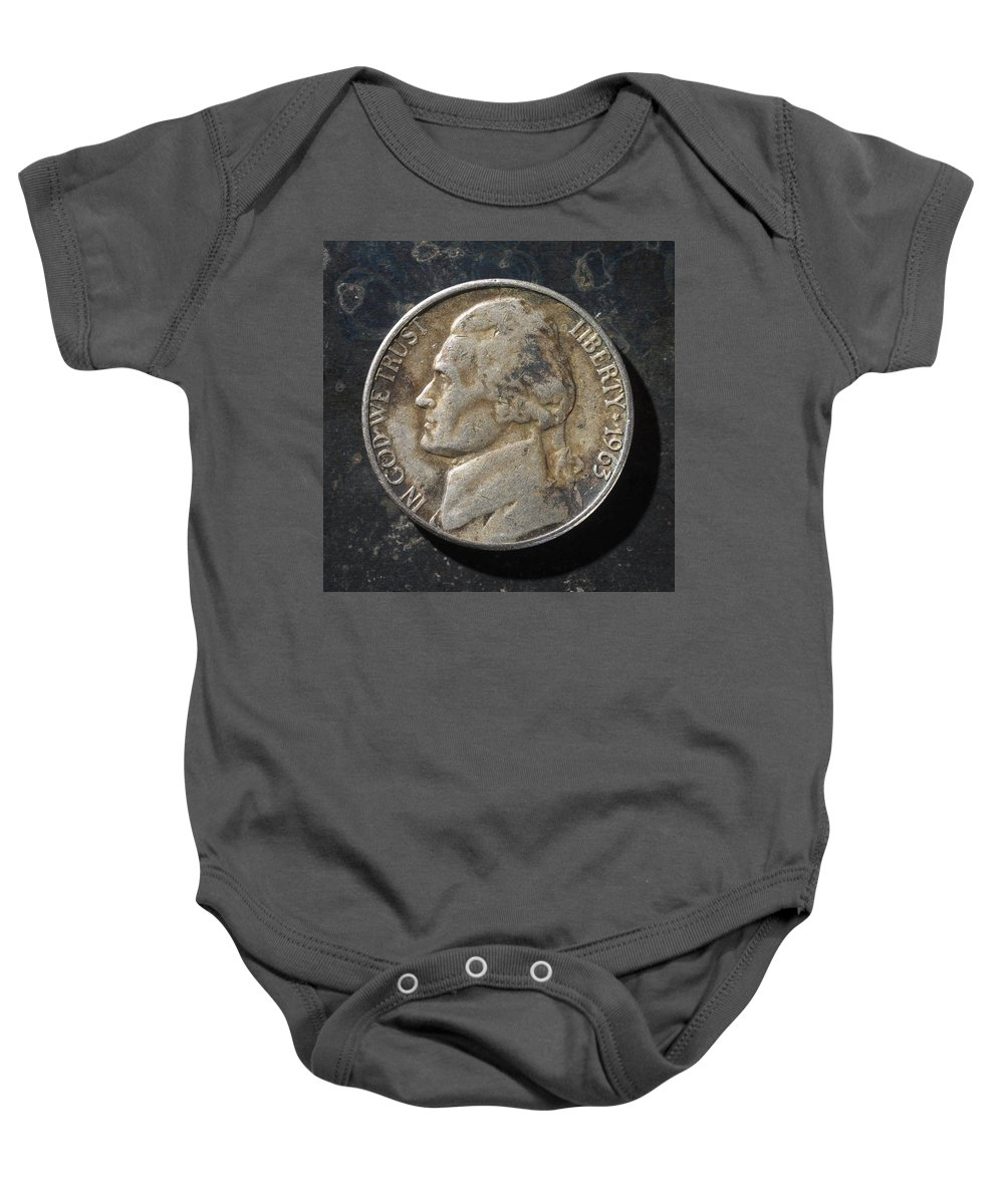 Americana Baby Onesie featuring the photograph N 1963 A H by Robert Mollett