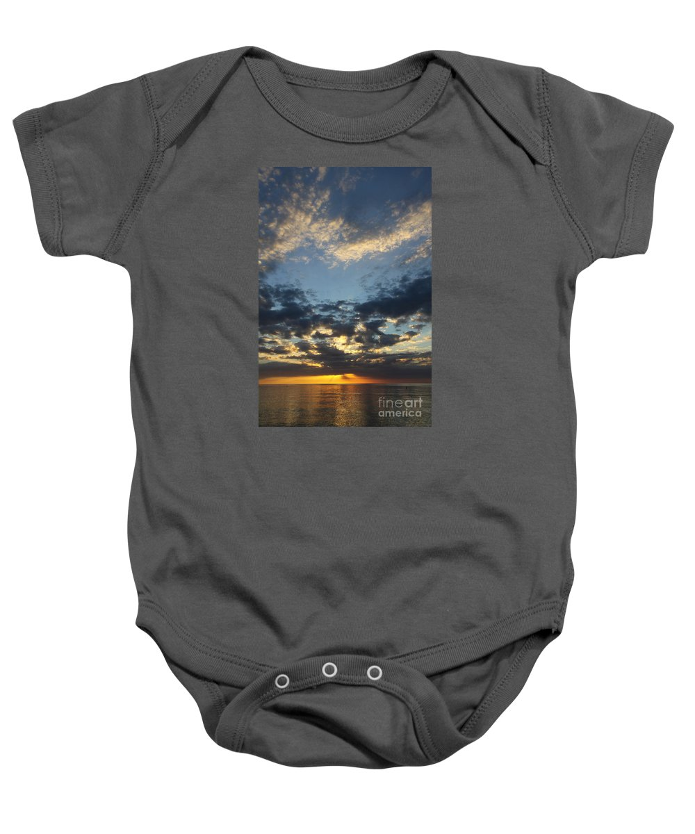 Sunset Baby Onesie featuring the photograph Naples Beach Sunset by Christiane Schulze Art And Photography
