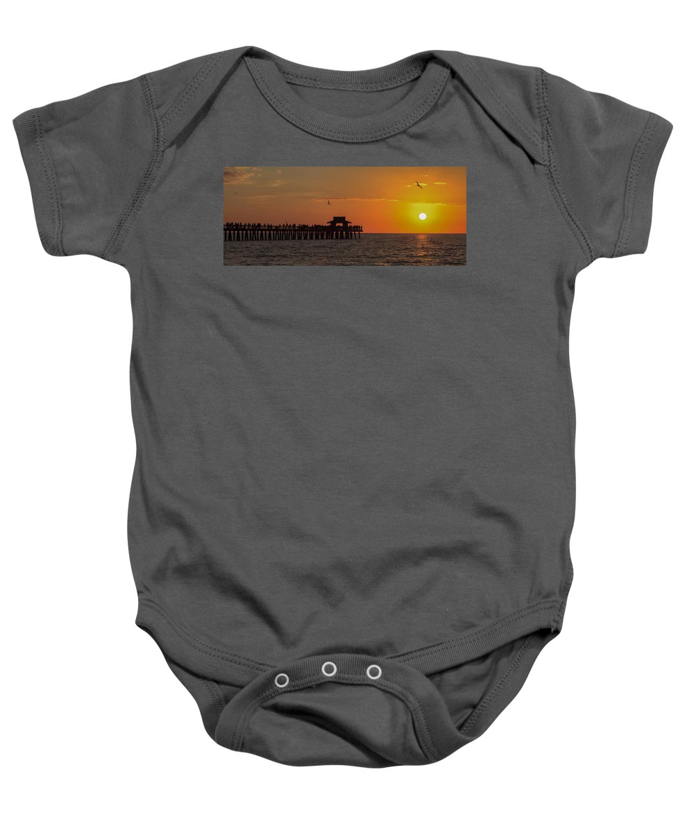 Bayshore Baby Onesie featuring the photograph Naples Sunset by Raul Rodriguez