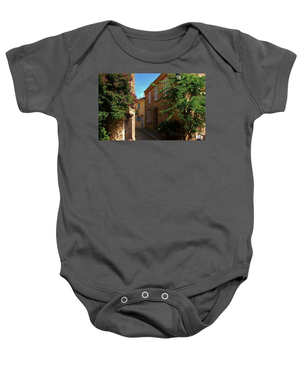 Village Baby Onesie featuring the photograph Narrow Street In The Village by Dany Lison