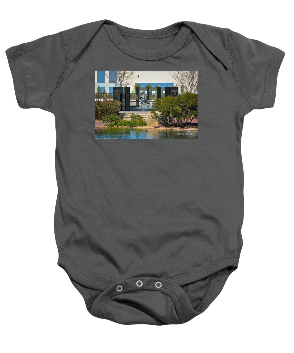 National Pow Memorial Baby Onesie featuring the photograph National Pow-mia Memorial by Tommy Anderson