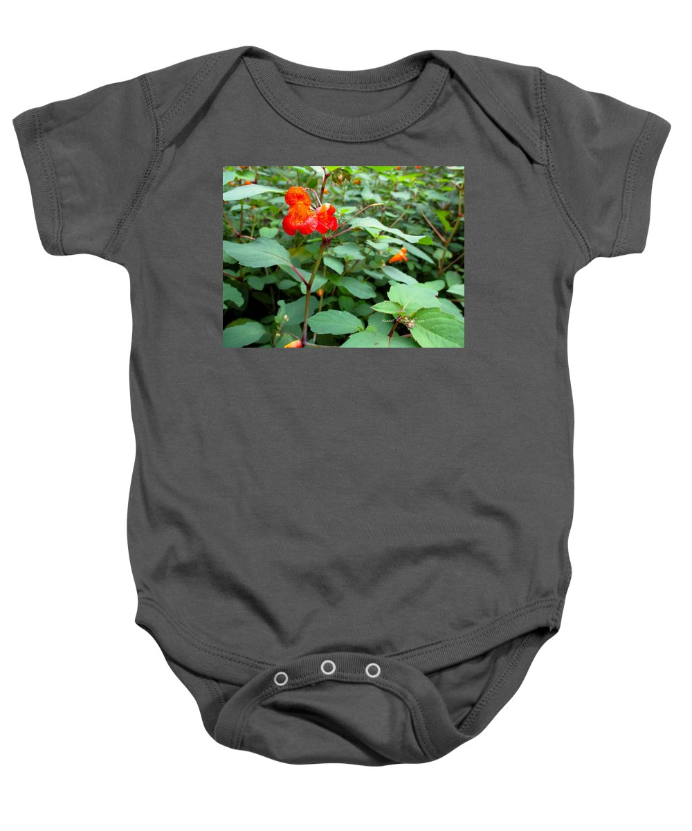 Jewel Weed Flowers Baby Onesie featuring the photograph Nature's Jewel by Kendall Kessler