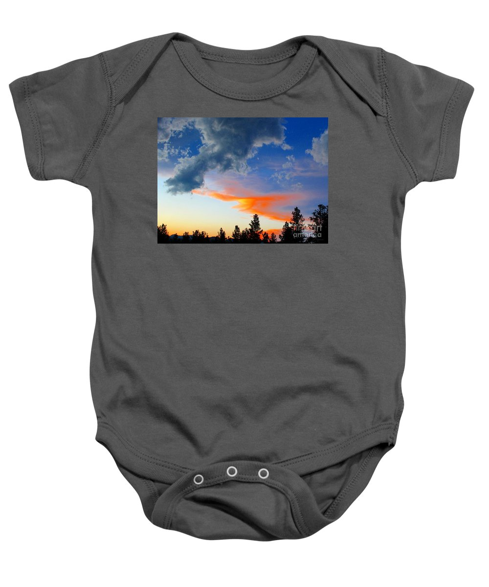 Colorado Sunset Baby Onesie featuring the photograph Nature's Palette by Barbara Chichester