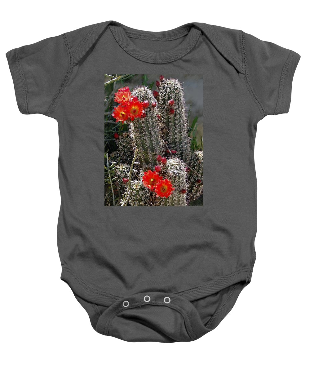 Cactus Baby Onesie featuring the photograph New Mexico Cactus by Kurt Van Wagner