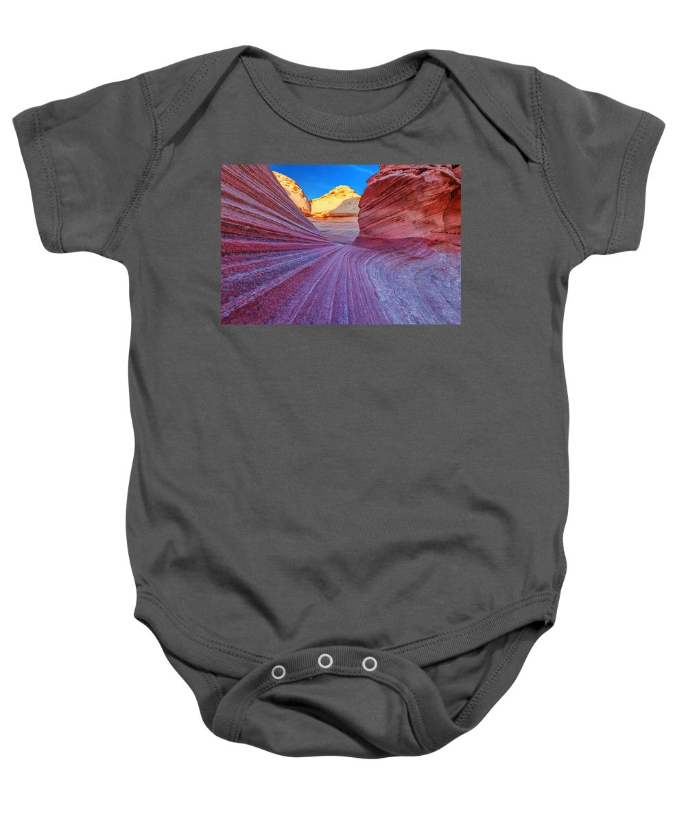 Lines Baby Onesie featuring the photograph New Wave by Darren White