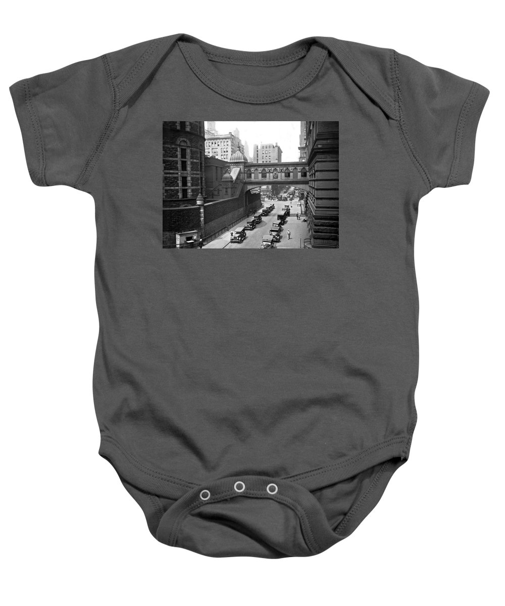 1924 Baby Onesie featuring the photograph New York City Bridge Of Sighs by Underwood Archives