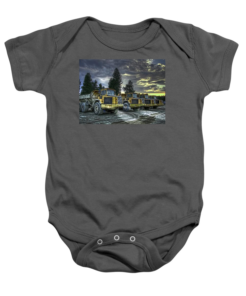 Gmc Baby Onesie featuring the photograph Night Shift by Daniel Hagerman