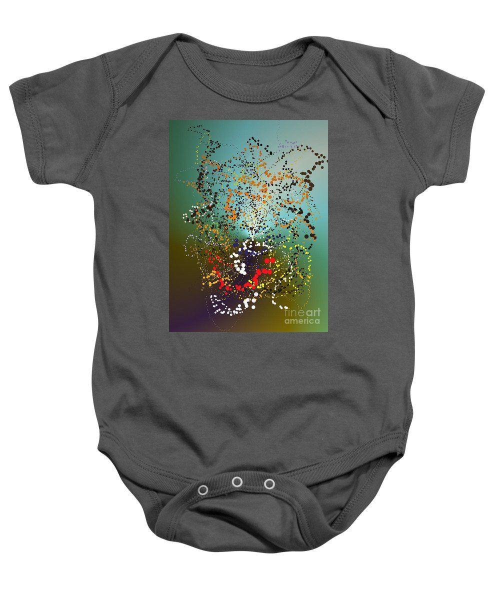 Baby Onesie featuring the digital art No. 127 by John Grieder