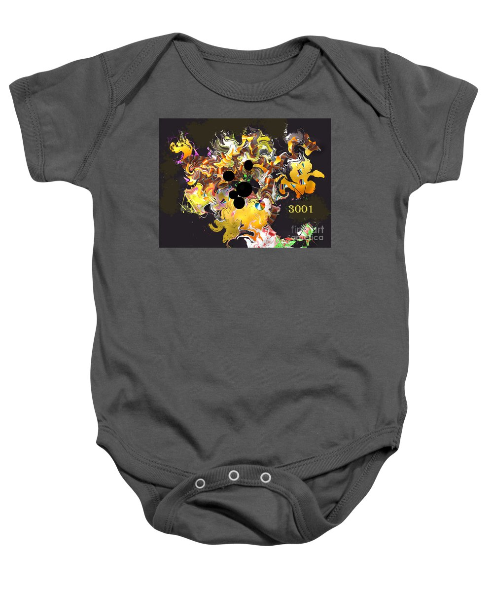Baby Onesie featuring the digital art No. 202 by John Grieder
