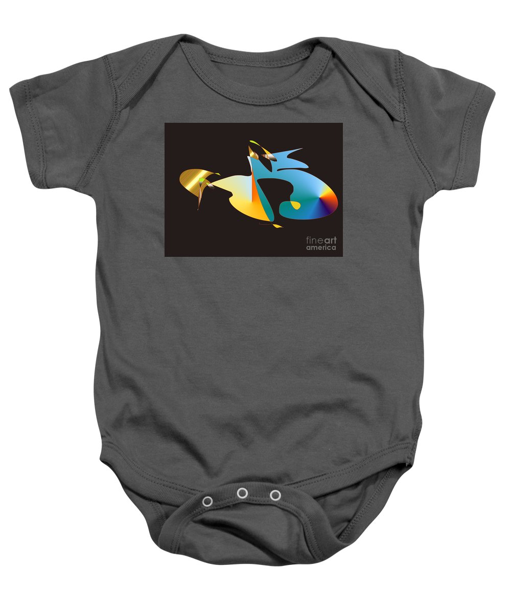 Baby Onesie featuring the digital art No. 461 by John Grieder