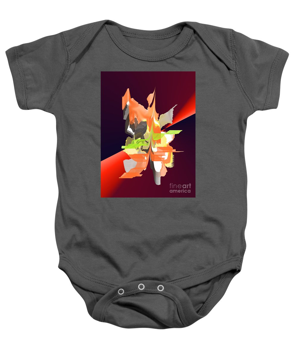 Baby Onesie featuring the digital art No. 684 by John Grieder
