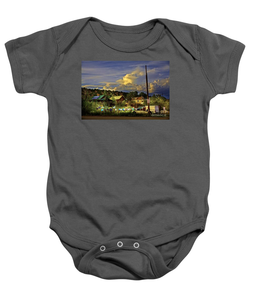 Mailboxes Baby Onesie featuring the photograph No Parking Anytime I by Madeline Ellis