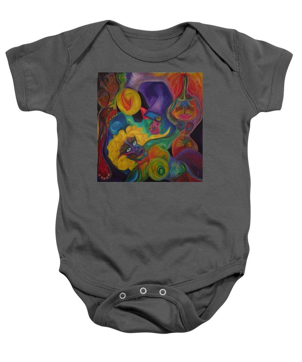 Baby Onesie featuring the pastel No Titel by Sitara Bruns