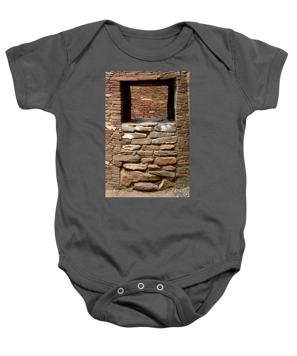 Ruins Baby Onesie featuring the photograph No Way In Or Out by Joe Kozlowski