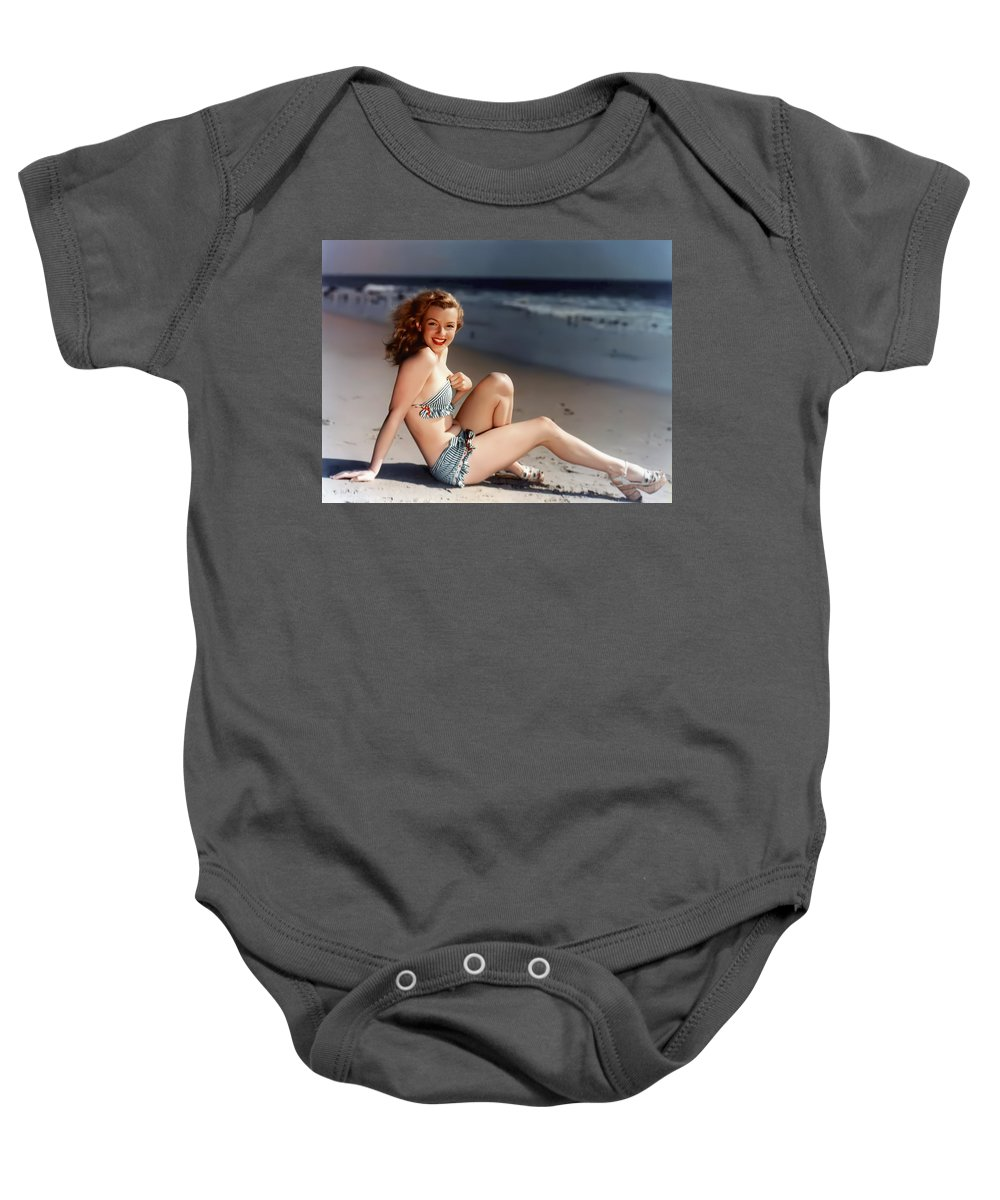 marilyn Monroe Baby Onesie featuring the photograph Norma Jeane by Daniel Hagerman