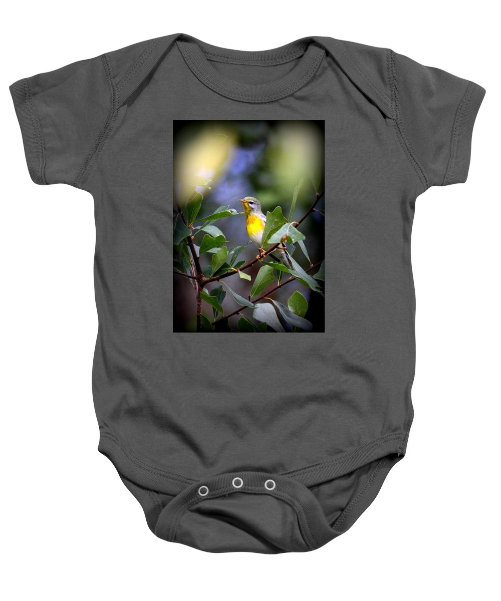 Northern Parula Baby Onesie featuring the photograph Northern Parula 9308-002 by Travis Truelove