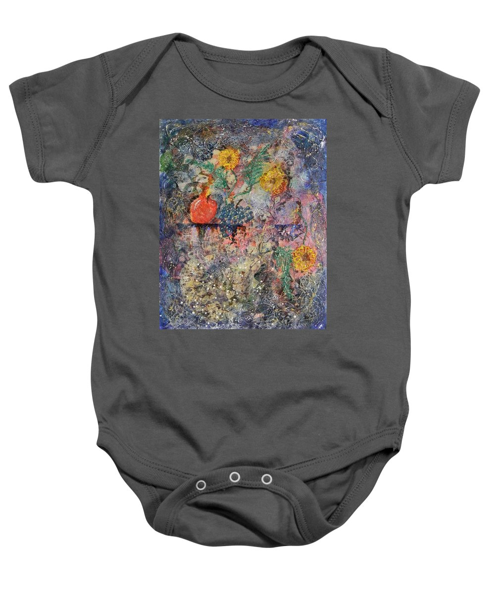 Fine Baby Onesie featuring the painting Not So... Still Life... by Jim Borton