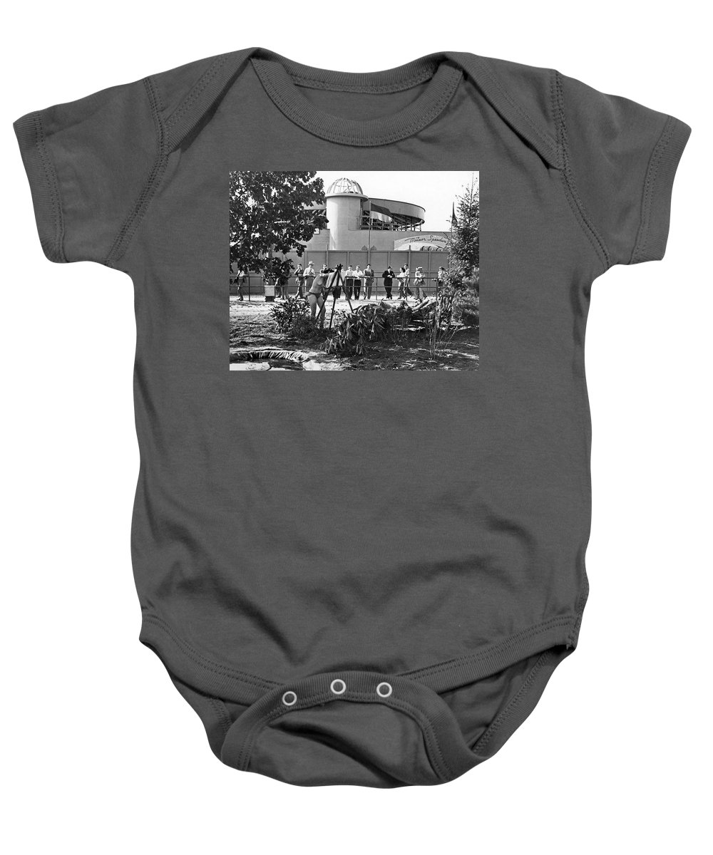 1939 Baby Onesie featuring the photograph Nudes At 1939 Ny World's Fair by Underwood Archives
