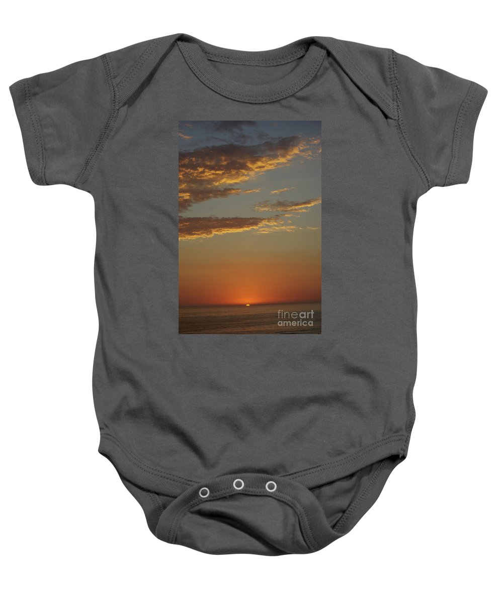 Ocean Baby Onesie featuring the photograph Ocean Sunset by Jim And Emily Bush