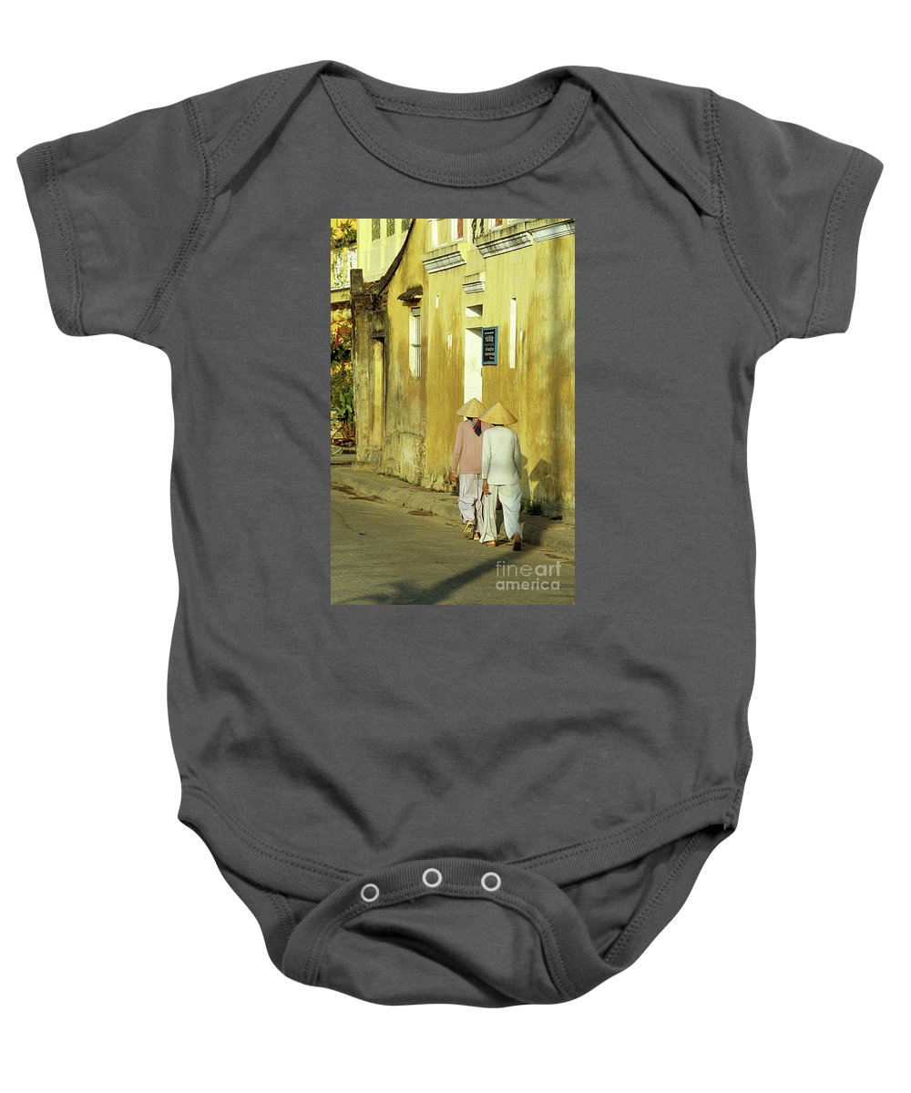 Vietnam Baby Onesie featuring the photograph Ochre Wall 02 by Rick Piper Photography