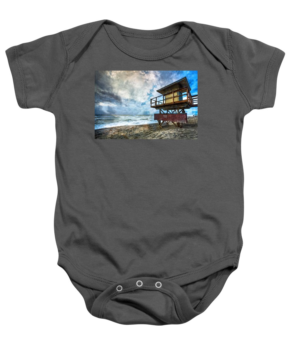 Clouds Baby Onesie featuring the photograph Off Duty by Debra and Dave Vanderlaan