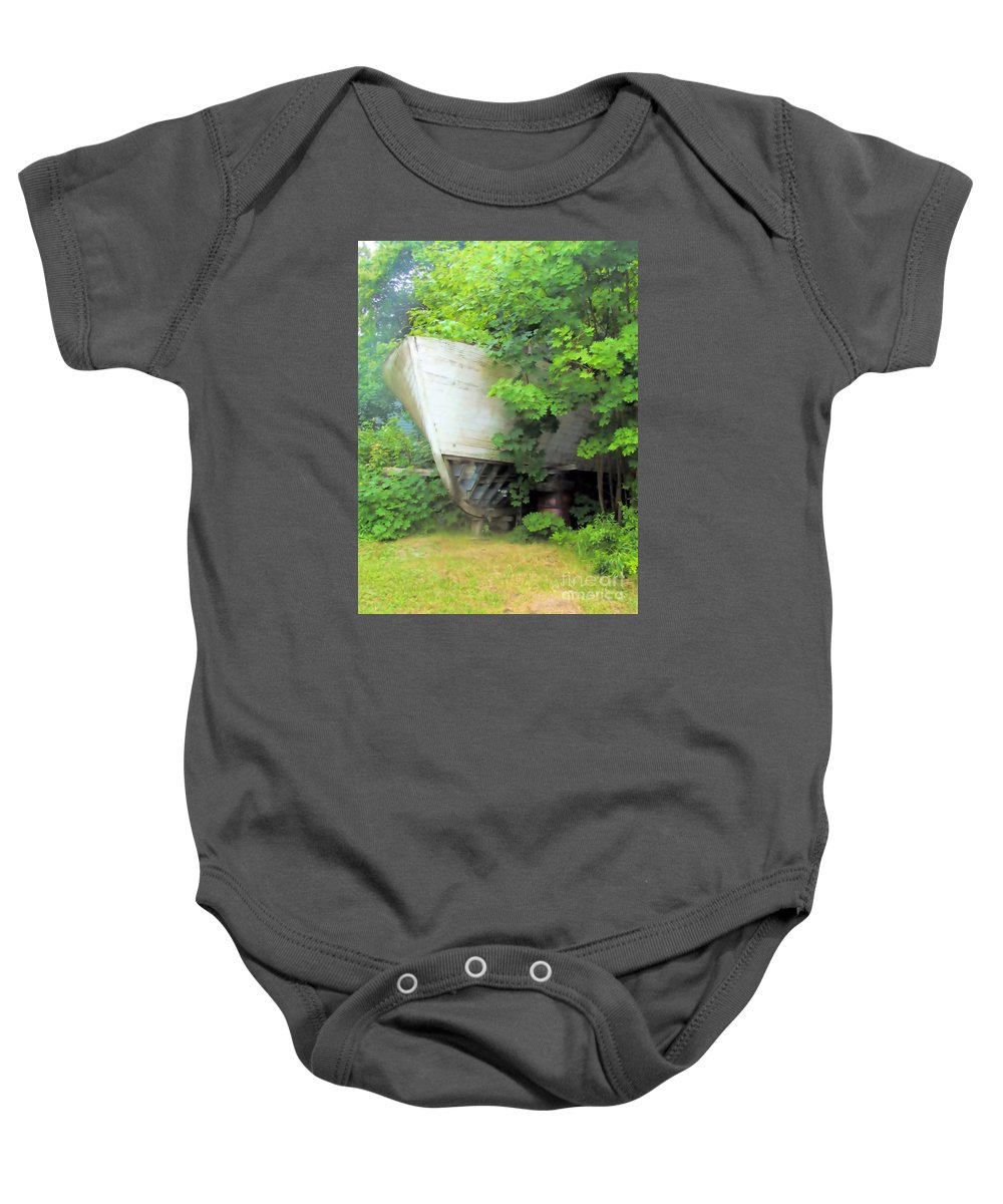 Yacht Baby Onesie featuring the photograph Oh Captain My Captain by Elizabeth Dow
