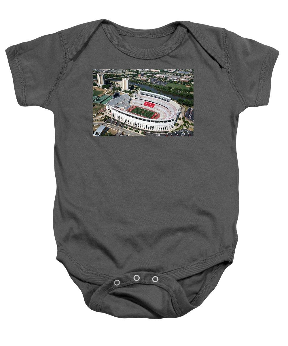 Columbus Baby Onesie featuring the photograph Ohio Stadium by Bill Cobb