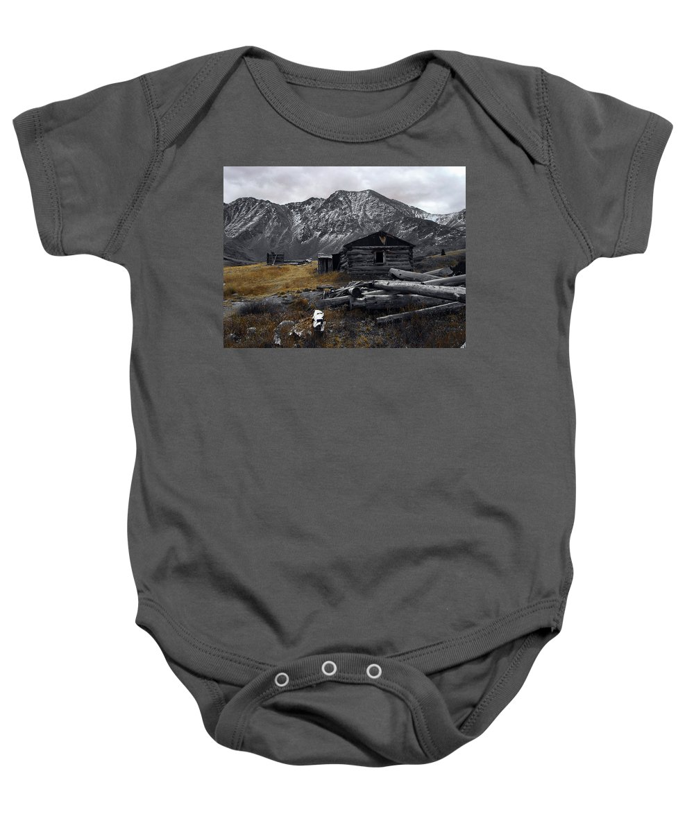 Mountain Baby Onesie featuring the photograph Old Boston Mine by Brian Kerls
