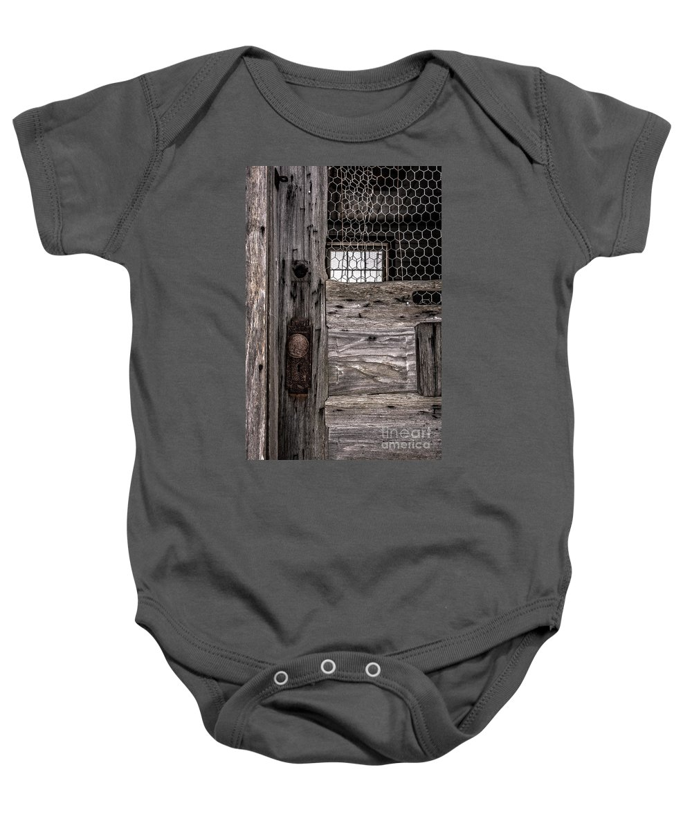 New Hampshire Baby Onesie featuring the photograph Old Chicken Coop by Edward Fielding