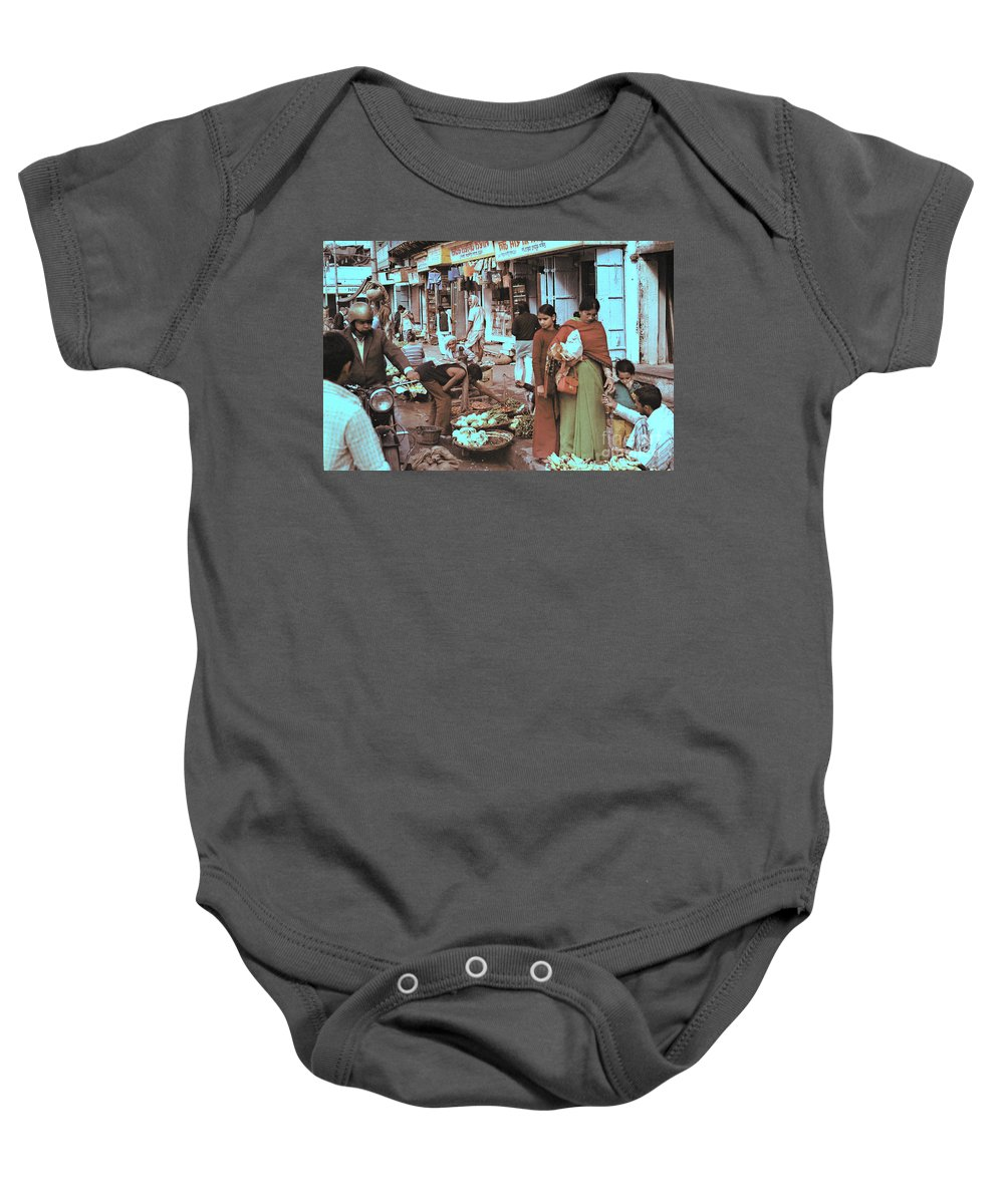 India Baby Onesie featuring the photograph Old Delhi 1978 by Bob Hislop