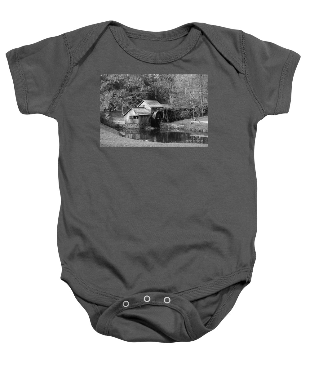 Virginia Baby Onesie featuring the photograph Virginia's Old Mill by Eric Liller