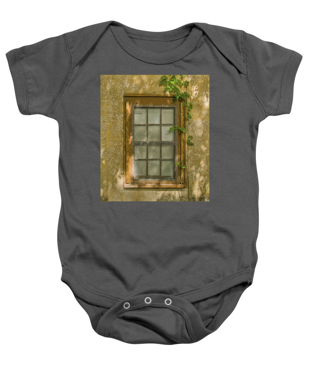 Window Baby Onesie featuring the photograph Old St Augustine Window by Rich Franco
