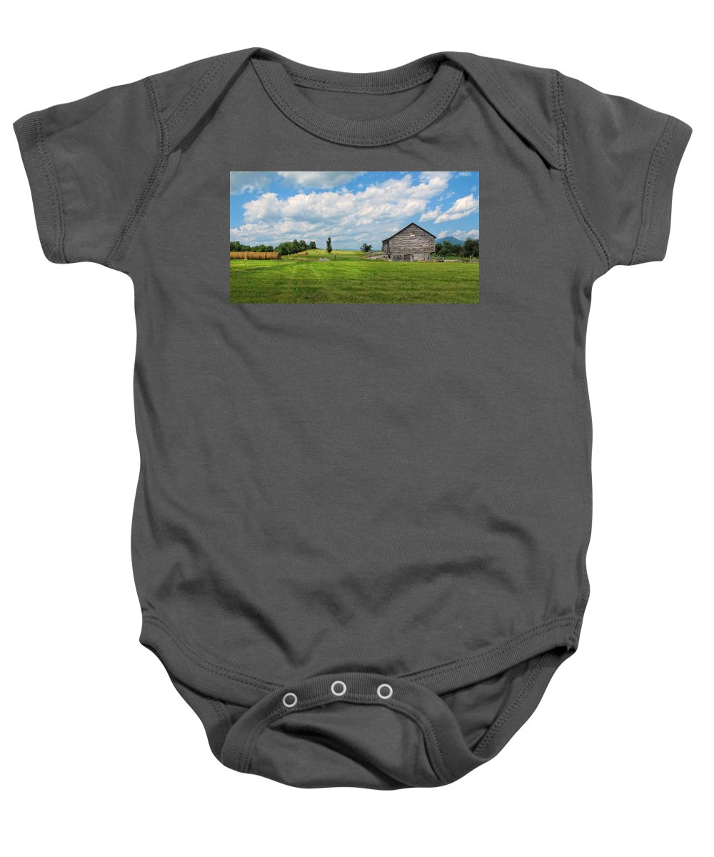 Barn Baby Onesie featuring the photograph Old Virginia Barn by Dave Mills